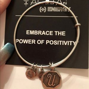 Alex and Ani silver bangle U